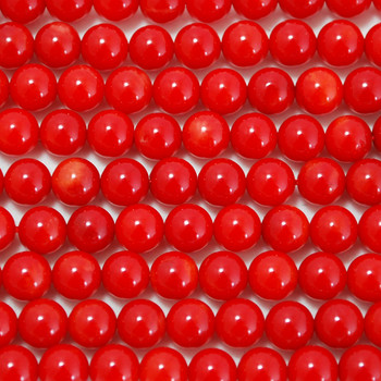 Red Coral Semi-precious Gemstone Round Beads 3mm, 6mm, 8mm
