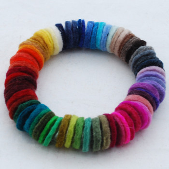 100% Wool Felt Die Cut Circles - 3cm - 50 Count - Assorted Colours