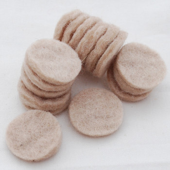 100% Wool Felt Die Cut Circles - 3cm - 10 Count - Light Latte