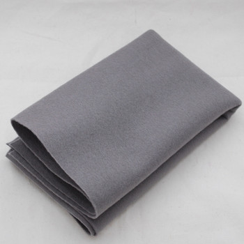 100% Wool Felt Fabric - Approx 1mm Thick - Battleship Grey - 40cm x 50cm