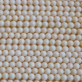 Natural White Coral Semi-precious Gemstone Round Beads 3.5mm - 8mm