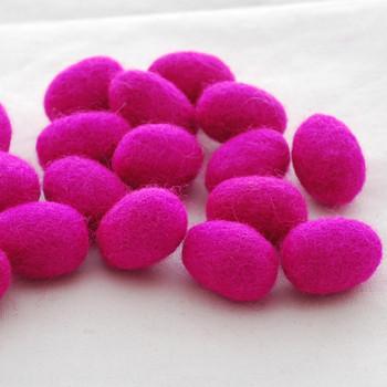 100% Wool Felt Egg - 10 Count - Garden Rose Pink