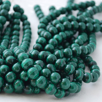 High Quality Grade A Natural Malachite Semi-precious Gemstone Round Beads 4mm, 6mm, 8mm, 10mm
