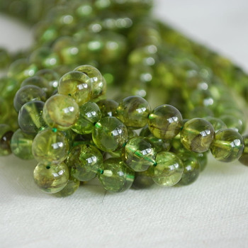High Quality Grade A Natural Peridot (green) Gemstone Round Beads 4mm, 6mm, 8mm, 10mm sizes