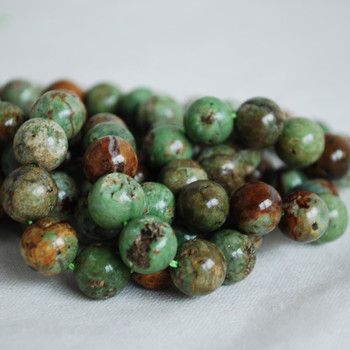 High Quality Grade A Natural Green Opal Chalcedony Gemstone Round Beads 4mm, 6mm, 8mm, 10mm sizes
