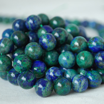 High Quality Azurite (dyed) Gemstone Round Beads 4mm, 6mm, 8mm, 10mm sizes