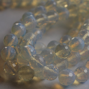 """Opalite Moonstone Faceted Round Beads -4mm,  6mm, 8mm, 10mm sizes - approx 15"""" long"""