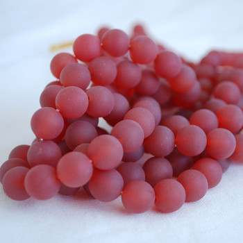 High Quality Grade A Natural Carnelian Red Agate Frosted / Matte Semi-precious Gemstone Round Beads 4mm, 6mm, 8mm, 10mm sizes