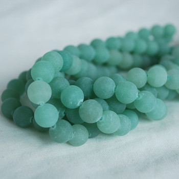 High Quality Grade A Natural Green Aventurine Frosted / Matte Semi-precious Gemstone Round Beads 4mm, 6mm, 8mm, 10mm sizes
