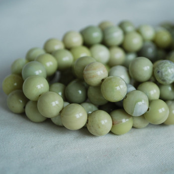 High Quality Grade A Natural Butter Jade (light green) Semi-precious Gemstone Round Beads - 4mm, 6mm, 8mm, 10mm sizes