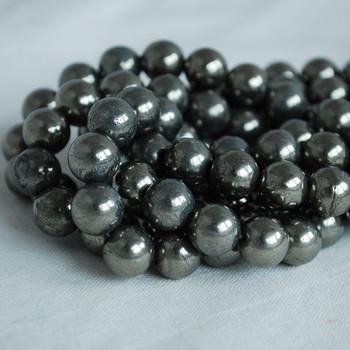 High Quality Grade A Natural Pyrite Semi-precious Gemstone Round Beads 4mm, 6mm, 8mm, 10mm sizes