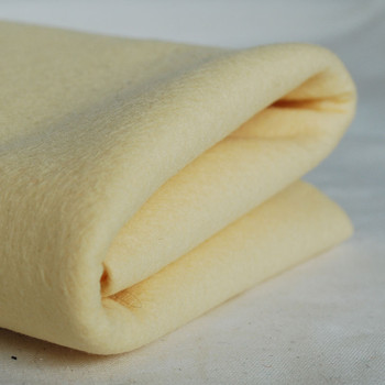 100% Wool Felt Fabric - Approx 1mm Thick - Butter Cream - 40cm x 50cm