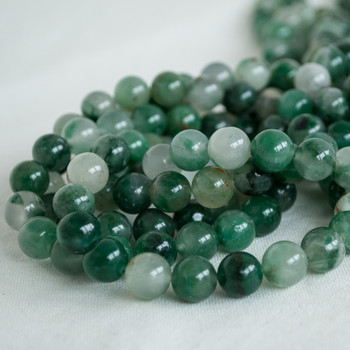High Quality Grade A Natural African Green Chalcedony Semi-precious Gemstone Round Beads - 4mm, 6mm, 8mm, 10mm sizes