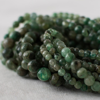 High Quality Grade A Natural Green Kyanite Semi-precious Gemstone Round Beads - 4mm, 6mm, 8mm, 10mm sizes