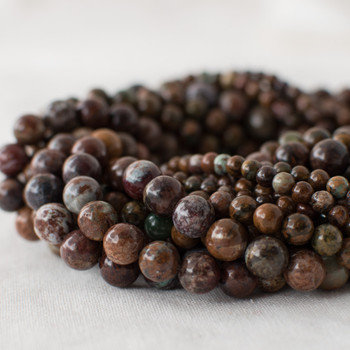 High Quality Grade A Natural African Opal Semi-precious Gemstone Round Beads - 4mm, 6mm, 8mm sizes