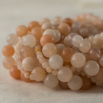 High Quality Grade A Natural Pink Aventurine Semi-precious Gemstone Round Beads - 4mm, 6mm, 8mm, 10mm sizes