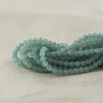 "High Quality Grade A Natural Amazonite Semi-Precious Gemstone Round Beads - 2mm - 15.5"" long"