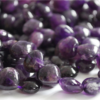 10 x High Quality Natural Amethyst Beads Heart 12mm