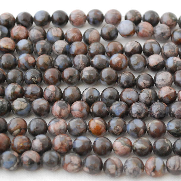 High Quality Grade A Natural African Que Sera Semi-precious Gemstone Round Beads - 6mm, 8mm, 10mm sizes