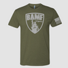BAMF logo shirt (OD Green/Gray)