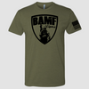BAMF logo shirt (OD Green/Black)