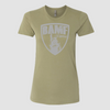 Womens BAMF logo (OD Green/Gray)
