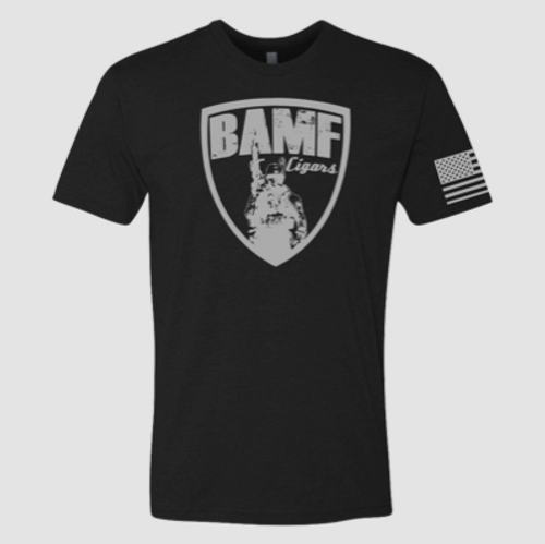 BAMF logo shirt (Black/Gray)
