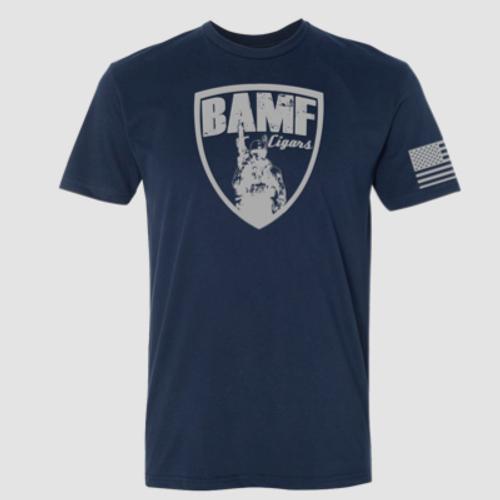 BAMF logo shirt (Blue/Gray)