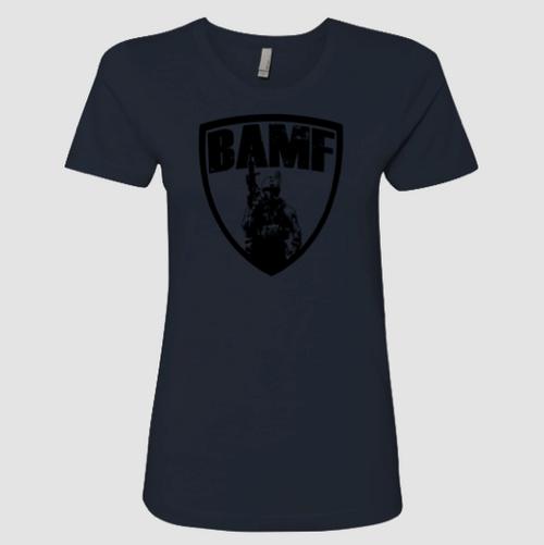 Womens BAMF logo (Blue/Black)
