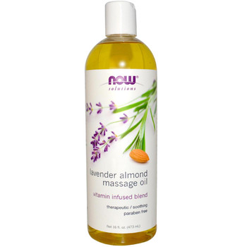Now Lavender Almond Massage Oil, 473 ml