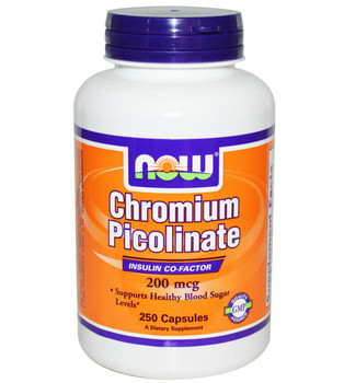 Now Chromium Picolinate 200mg  250 Capsules