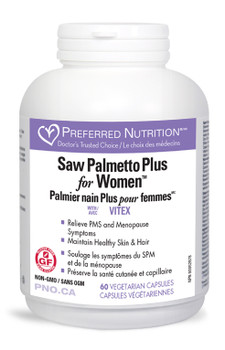 Saw Palmetto Plus for Women with Vitex, 60 Veg Caps