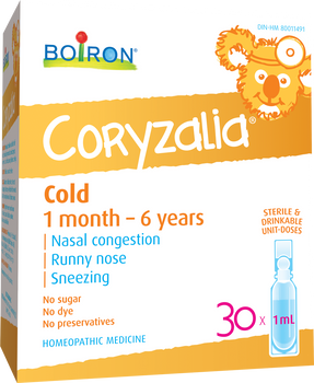 Boiron CORYZALIA for Cold 1 month to 6 years, 30 X 1ml