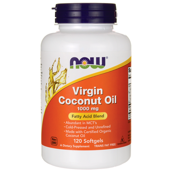 NOW Virgin Coconut Oil, 120 Capsules