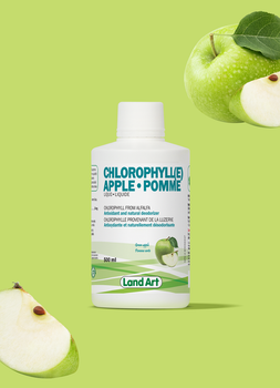 Land Art Chlorophyll (e) Apple Flavour, 500 ml