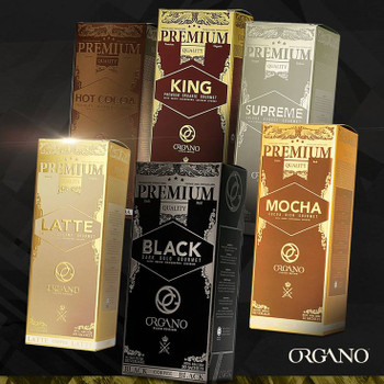 5 Pack Organo Gold Health in a Cup of Coffee or Tea