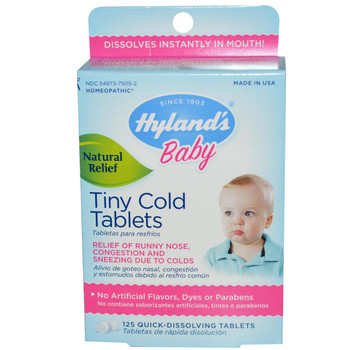 Hyland's Tiny Cold Tablets, 125 Quick Dissolving Tablets