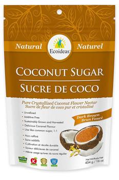 Ecoideas Coconut Sugar Dark Brown, 454 g