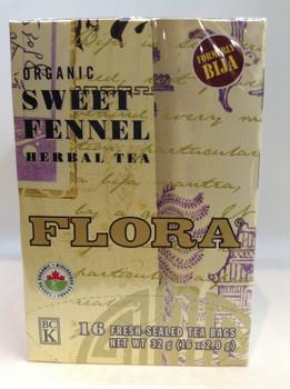 Flora Teas Organic Sweet Fennel Herbal Tea, 32 mg