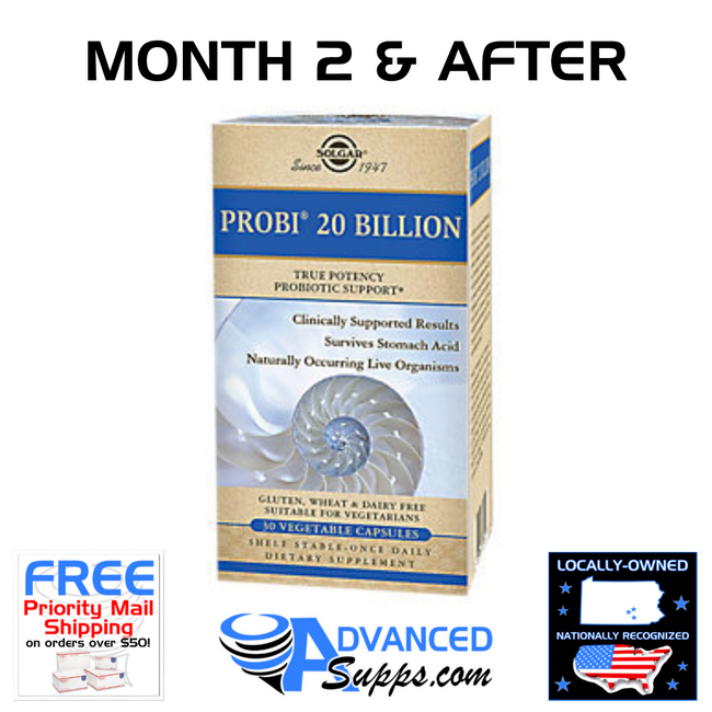 PROBI 20 BILLION: Months 2 & After Dosage