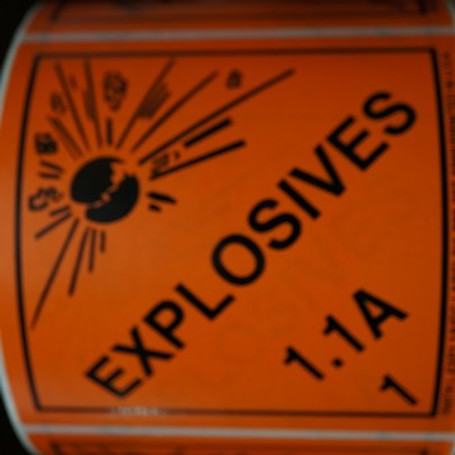 Explosives 1.1A Labels 500 Per Roll
