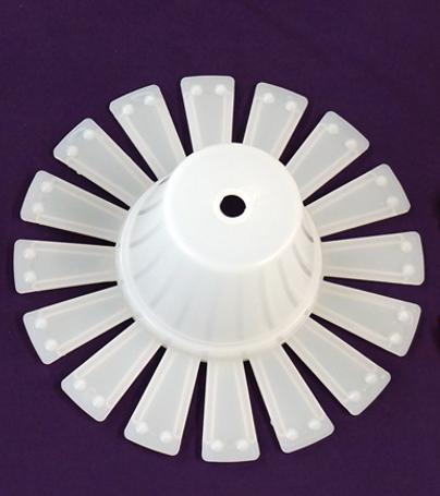"""8"""" Spider Stem Plug (white) (100 per box)"""