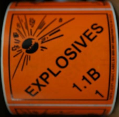 Explosives 1.1B Labels 500 Per Roll
