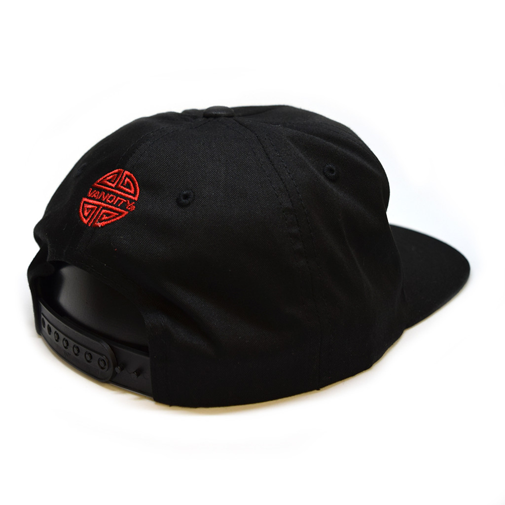 Eat Out Unstructured 5-Panel Snapback - Black