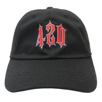 420 Trap Dad Hat - Black