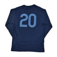 20th Anniversary Crest Long Sleeve Tee - Navy