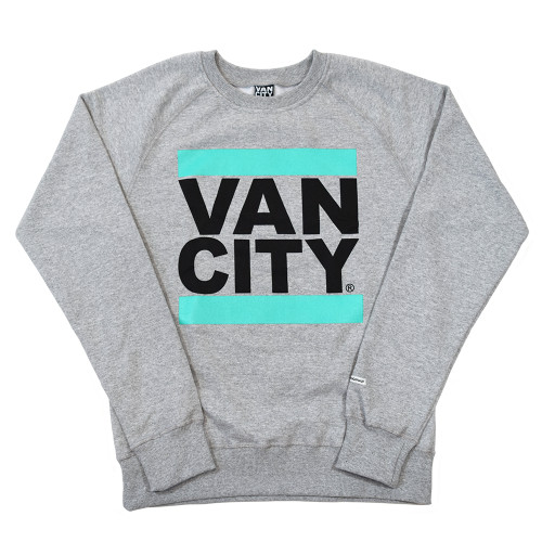 New Classic Fit UnDMC Crew Sweatshirt - Heather Grey/Teal