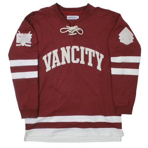Vancity Original® Game Changers Hockey Jersey in Ox Red - Front