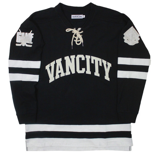 Vancity Original® Game Changers Hockey Jersey in Classic Black - Front
