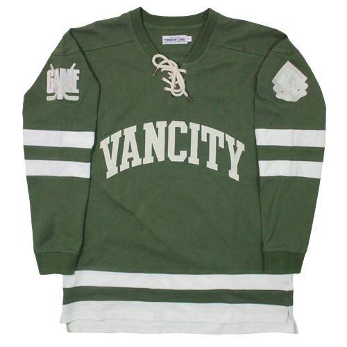 Vancity Original® Game Changers Hockey Jersey in Army Green - Front